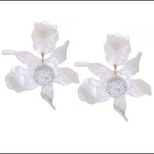 Lele Sadoughi Flower Pavé Earrings